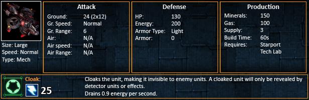 Starcraft 2 Banshees Statistics SC2 Banshee unit stats