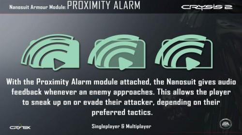 Proximity Alarm Nanosuit Module