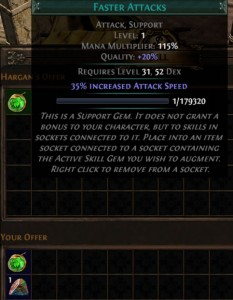 Quality gem recipe