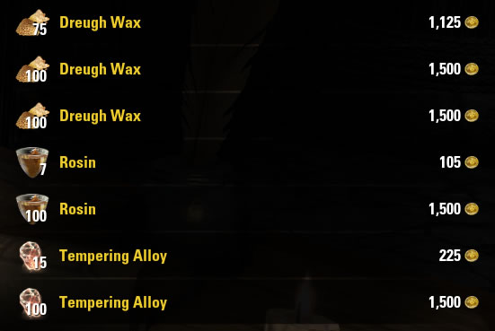 Making gold in ESO