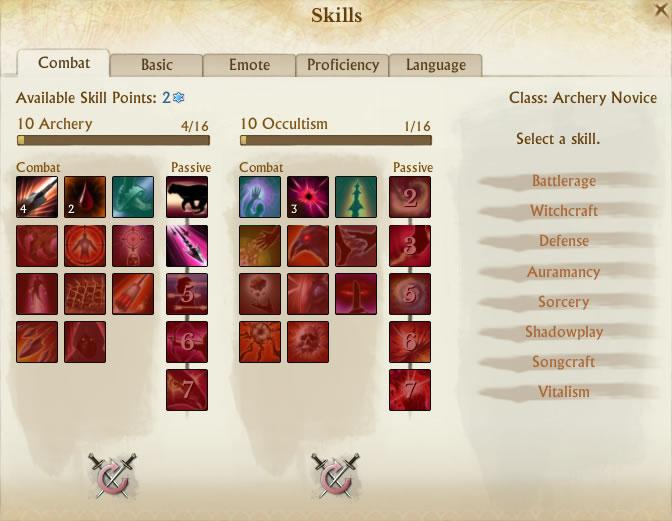ArcheAge Combat skills