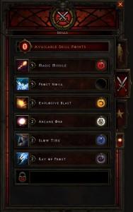 Diablo 3 skills window