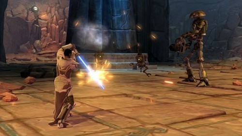 Jedi Knight combat on Tython