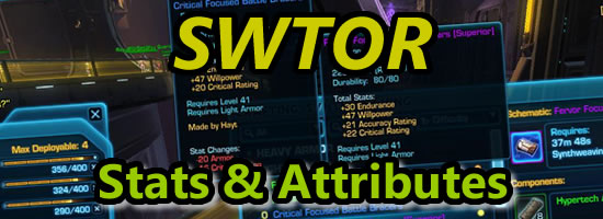 SWTOR Stats and attributes