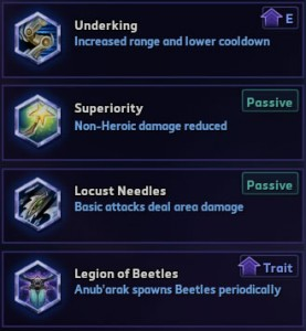 Anub'arak level 4 talents