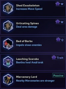 Anub'arak level 7 talents