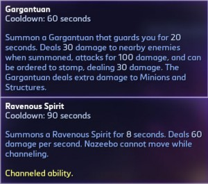 Nazeebo's Heroic Abilities