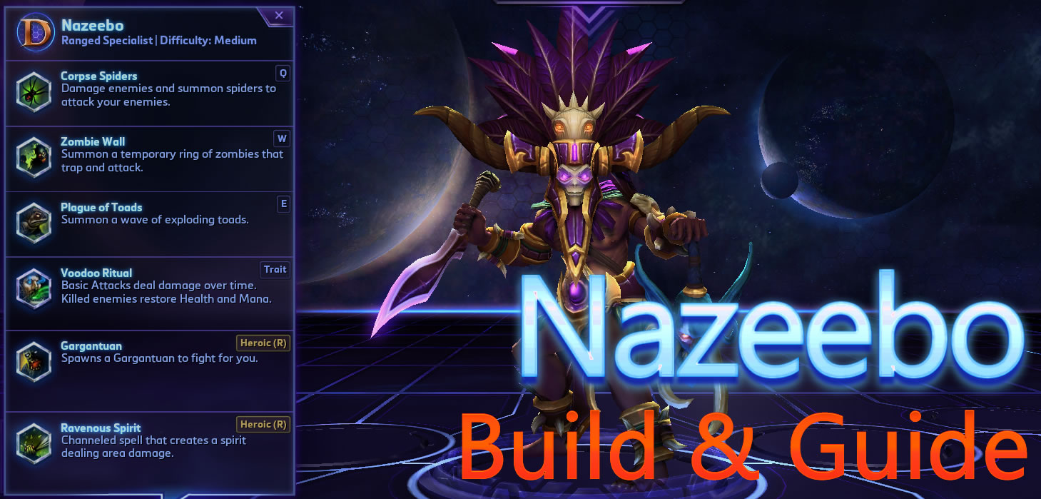 Heroes Of The Storm Nazeebo Build Guide Find the best hots nazeebo build and learn nazeebo's abilities, talents, and strategy. heroes of the storm nazeebo build guide