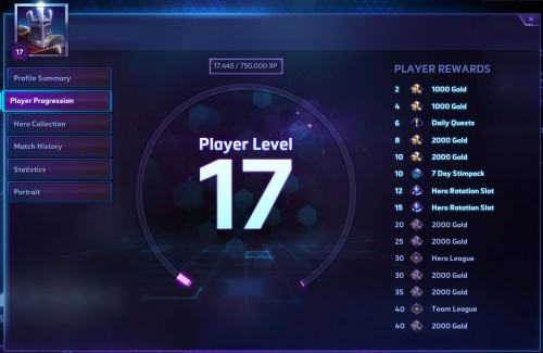 Player progression: levels and experience