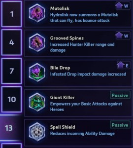 Zagara level 13 Talents