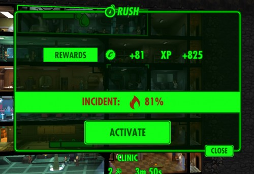 Fallout Shelter Rushing