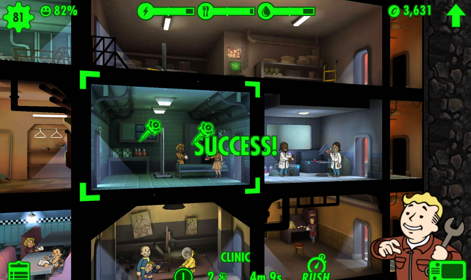 Fallout Shelter rushing trick