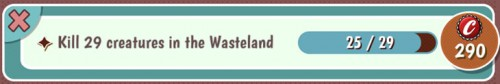 Fallout Shelter Objective: Kill creatures in wasteland