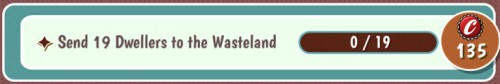 Fallout Shelter Objective: Send dwellers to Wasteland