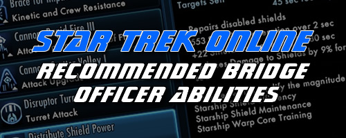 Star Trek Online Bridge Officer Abilities