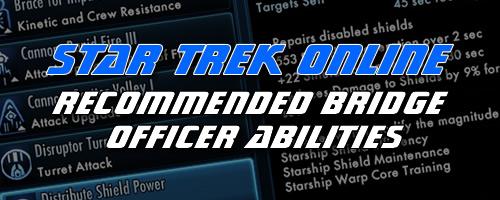 Star Trek Online Bridge Officer Abilities