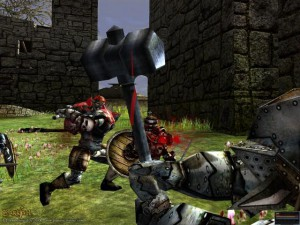 Darkfall melee combat
